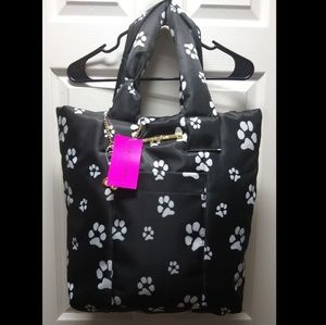Betsey Johnson Paw Printed Tote Bag
